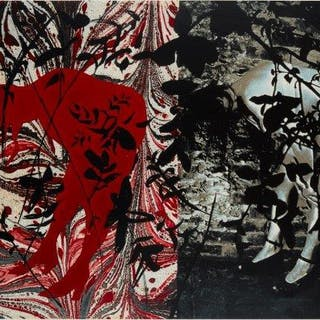 John Piper CH, British 1903-1992- Eye and Camera: Red and Black [Levinson