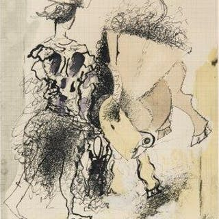 After Georges Braque, French 1882-1963- Torero, 1950; photolithograph