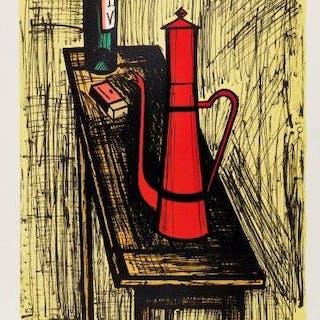 Bernard Buffet, French 1928-1999- La Cafetiere Rouge [Solier 411]