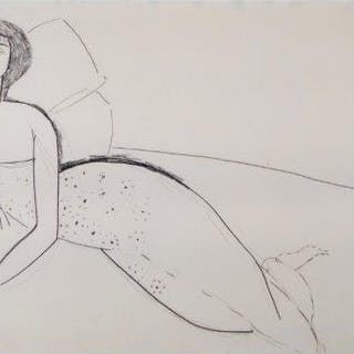 Amedeo Modigliani, Italian 1884-1920- Reclining woman; lithograph