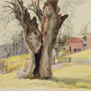 Leon Underwood, British 1890-1975- The Old Tree, 1922; watercolour
