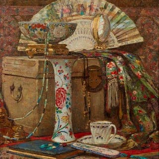 William Robson, Scottish 1868-1952- No 1 A Study/Oriental Still Life;