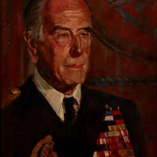 British School, mid 20th century- Portrait of Louis Mountbatten, 1st