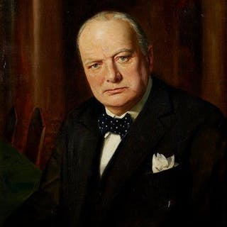 John Archibald Alexander Berrie, British 1887-1962- Portrait of Sir
