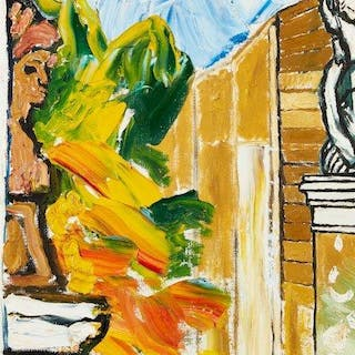 John Randall Bratby RA, British 1928-1992- Two sculptures on plinths;