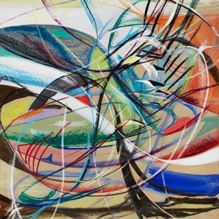 Derrick Latimer Sayer, British 1917-1992- Abstract composition; pastel