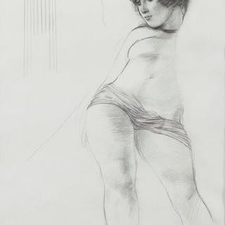 Adrian George, British b.1944- Classical Study; pencil, signed, 41.5