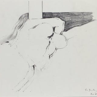 Adrian Heath, British 1920-1992- Sketch of a reclining figure, 1969;