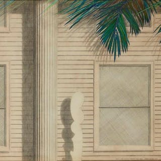 Norman Stevens ARA, British 1937-1988- French Curve, Fronds and Clapboard