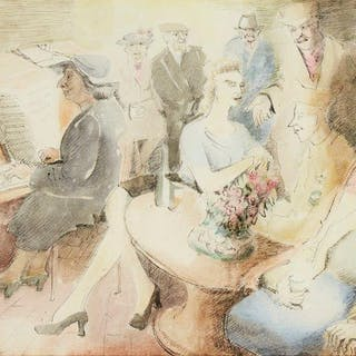 Blair Hughes-Stanton, British 1902-1981- Song; ink and watercolour