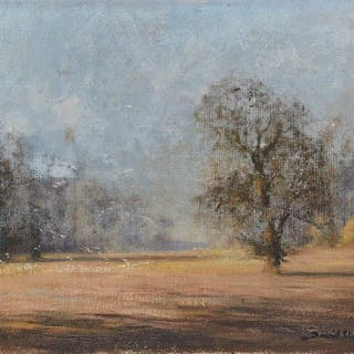 David Shepherd CBE FRSA, British 1931-2017- Landscape with trees;