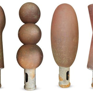 Sir Antony Gormley OBE, British b. 1950- Set of four Peckham bollards