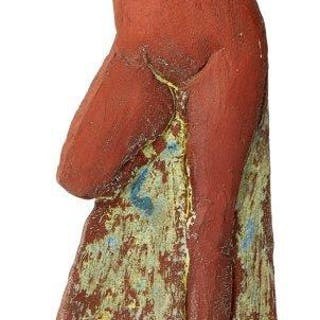Glenys Barton, British b. 1944- Untitled, 1990; red earthenware with