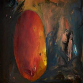 Anthony Daley, British b.1960- Egginess, 1992; oil on canvas, signed