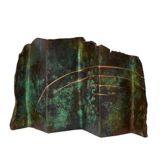 Carole Hodgson FRSS, British b,1940- Untitled, 1986; bronze with green