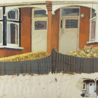 David Hepher, British, b.1935- Untitled (Terrace House Study), c.1971;