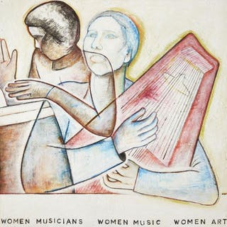 Monica Sjoo, Swedish 1938-2005- 'Women Musicians, Women Music, Women