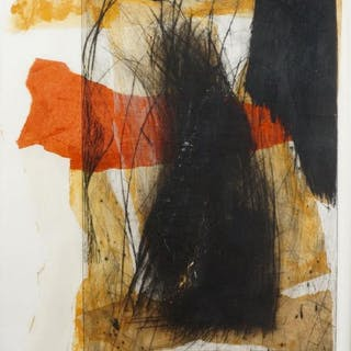 Ronald Best, British b.1957- Untitled abstract, 1990; mixed technique