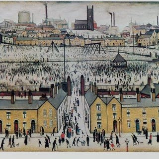 Laurence Stephen Lowry RBA RA, British 1887-1976- Britain at Play;