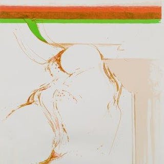 Adrian Heath, British 1920-1992- Untitled, 1973; lithograph in colours