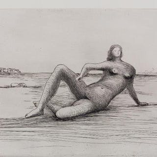 Henry Moore OM CH FBA, British 1898-1986- Reclining Figure 4 [CGM