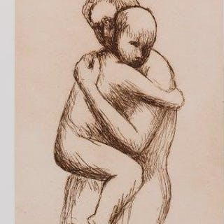 Henry Moore OM CH FBA, British 1898-1986- Mother and Child XXX, 1983;