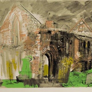 John Piper CH, British 1903-1992- Whithorn Priory [Levinson 248]