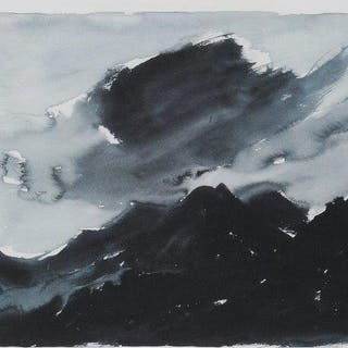 Sir Kyffin Williams KBE RA, Welsh 1918-2006- Stormy Mountainscape;