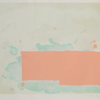 John Hoyland RA, British 1934-2011- Orange-Pink-Green, 1971; screenprint