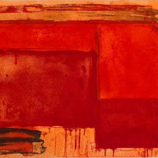 John Hoyland RA, British 1934-2011- Tembi, 1980; etching and aquatint