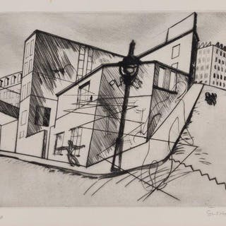Stanley William Hayter CBE, British 1901-1988- Rue de la Villette