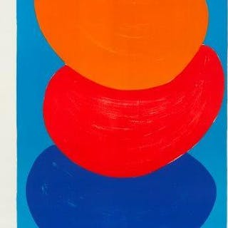 Sir Terry Frost RA, British 1915-2003- Ochre, Red, Blue [Kemp 50]