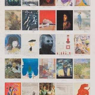 Various Artists, Founders Print; offset lithograph in colours, sheet