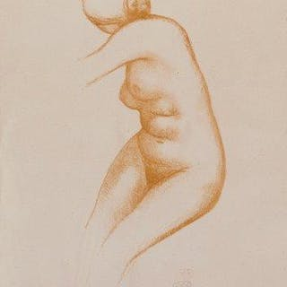 Aristide Maillol, French 1861-1944- Untitled (Nude); lithograph printed