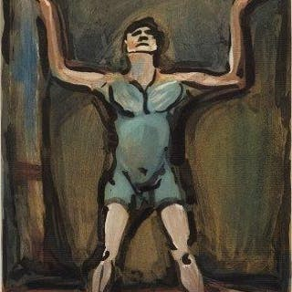 Georges Rouault, French 1871-1958- Le Jongleur, 1930; aquatint in