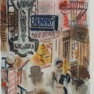 George Grosz, German 1893-1959- Bagdad-on-the-Subway, 1935; the complete