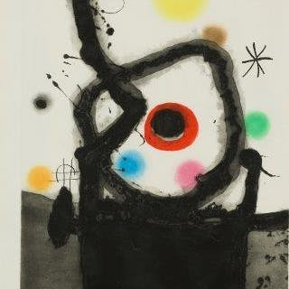 Joan Miró, Spanish 1893-1983- Le Rebelle [Dupin 439], 1967; etching