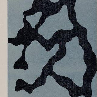 Jean Arp, German/French 1886-1966- Ramures, 1954; woodcut in colours