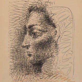Pablo Picasso, Spanish 1881-1973; Portrait of Jacqueline [Bloch 827;