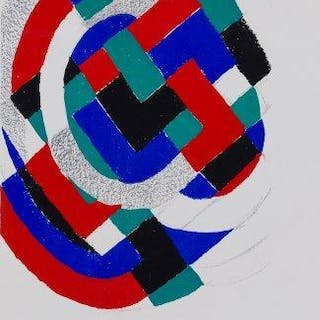 Sonia Delaunay, French 1885-1979- Untitled, 1971; lithograph in colours