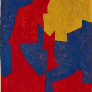 After Serge Poliakoff, Russian 1906-1969- Abstract composition in