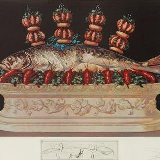 Salvador Dali, Spanish 1904-1989- Les Chairs monarchies and Les Panaches