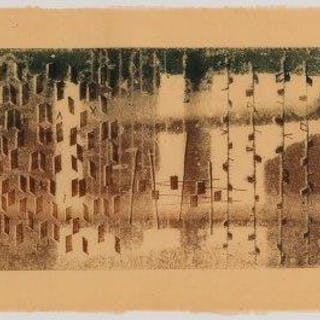Harry Bertoia, American 1915-1978- Untitled (n & H 21); monotype on