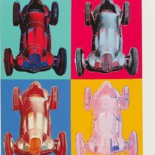After Andy Warhol, American 1928-1987- Mercedes-Benz Formel-1-Rennwagen