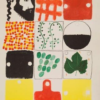 Joe Tilson RA, British b.1928- Untitled, 1982; lithograph in colours