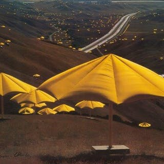 Christo and Jeanne-Claude, American b.1935- The Umbrellas, Japan-USA