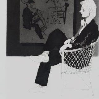 Patrick Procktor RA RE RWS, British 1936-2003- Aesthete, 1979; etching