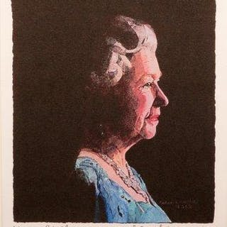 Sir Peter Blake CBE RDI RA, British b.1932- To Her Majesty, Queen