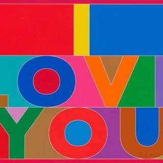 Sir Peter Blake CBE RDI RA, British b.1932- I Love You, 2013; digital