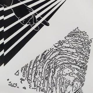 Rose Finn-Kelcey, British 1945-2014- Finger Print, 1982; linocut on